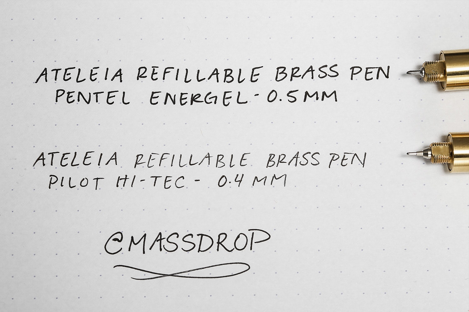 ATELEIA Refillable Brass Pen