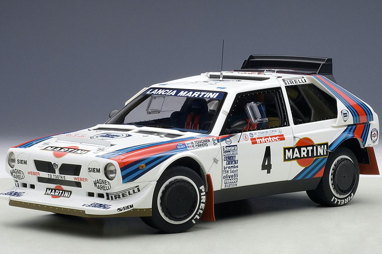 """Lancia Delta S4 """"Martini"""" Tour De Corse 1986 Toivonen/Cresto #4 (-$65)"""