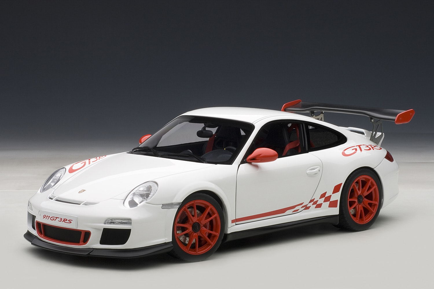 Porsche 911 (997) GT3 RS, White w/ Red Stripes