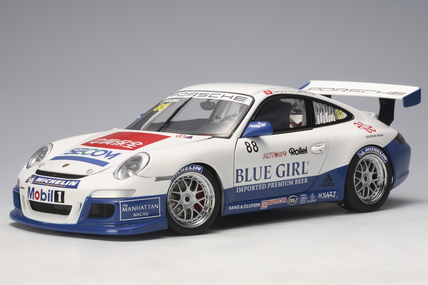 Porsche 911 (997) GT3 Cup 2006 PCCA Winner #88, Darryl O'Young, L.E. 2,000 pcs. Worldwide