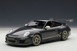 Porsche 911 (997) GT3 RS, Grey Black w/ White Gold Metallic Stripes (+$25)