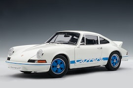 Porsche 911 Carrera RS 2.7 1973, White w/ Blue Stripes