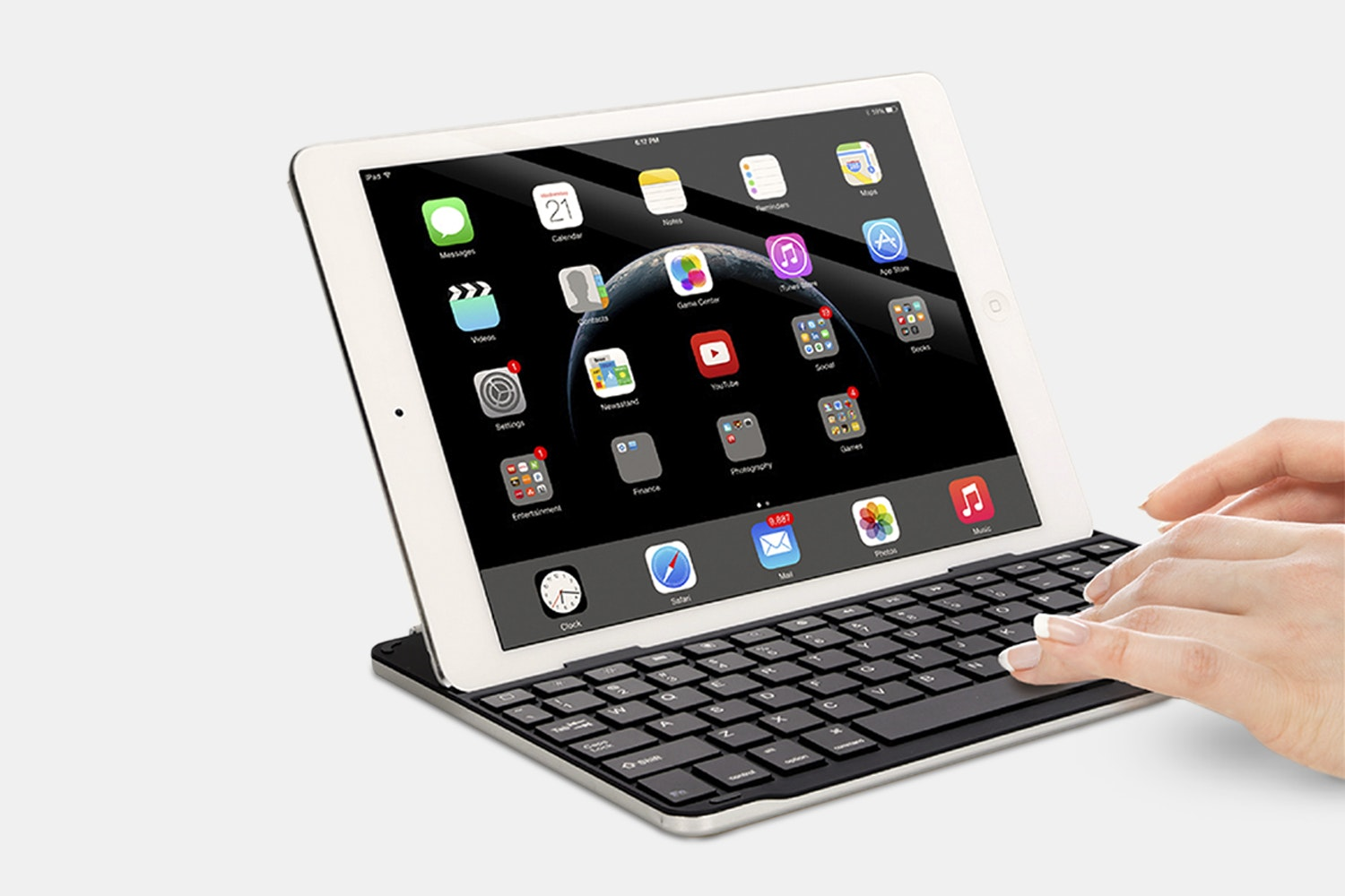 Azio Bluetooth Keyboard/Cover for iPad Air