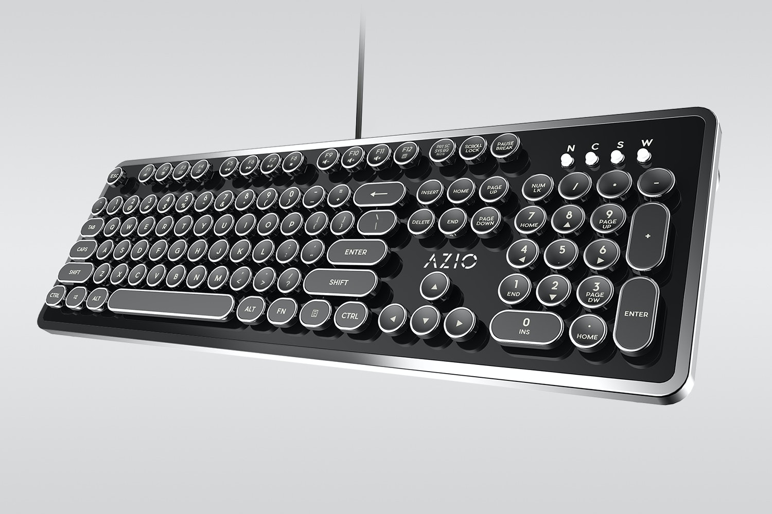 Azio MK-Retro Typewriter-Style Mechanical Keyboard