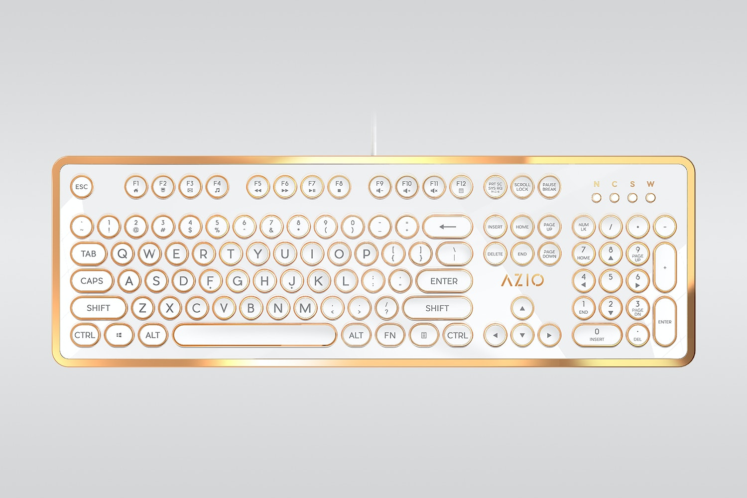 MK-Retro-02 - White/Gold