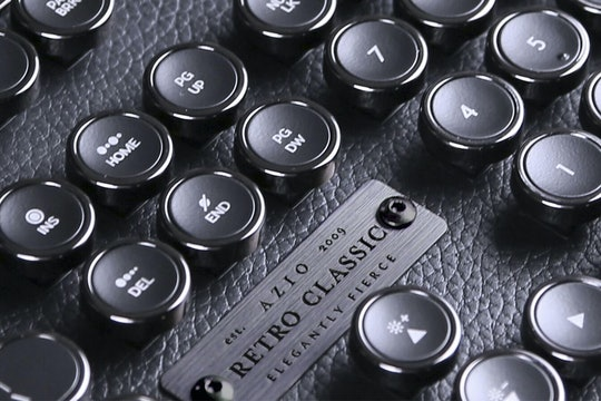 Azio Retro Classic Leather Mechanical Keyboard