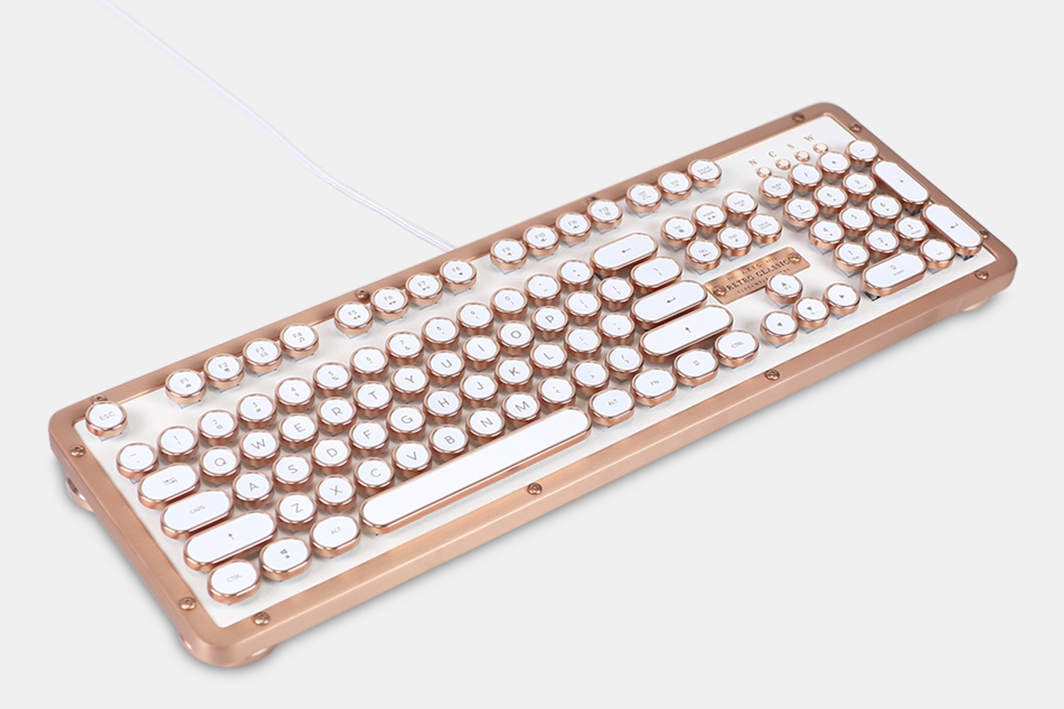 Azio Retro Classic Leather Mechanical Keyboard