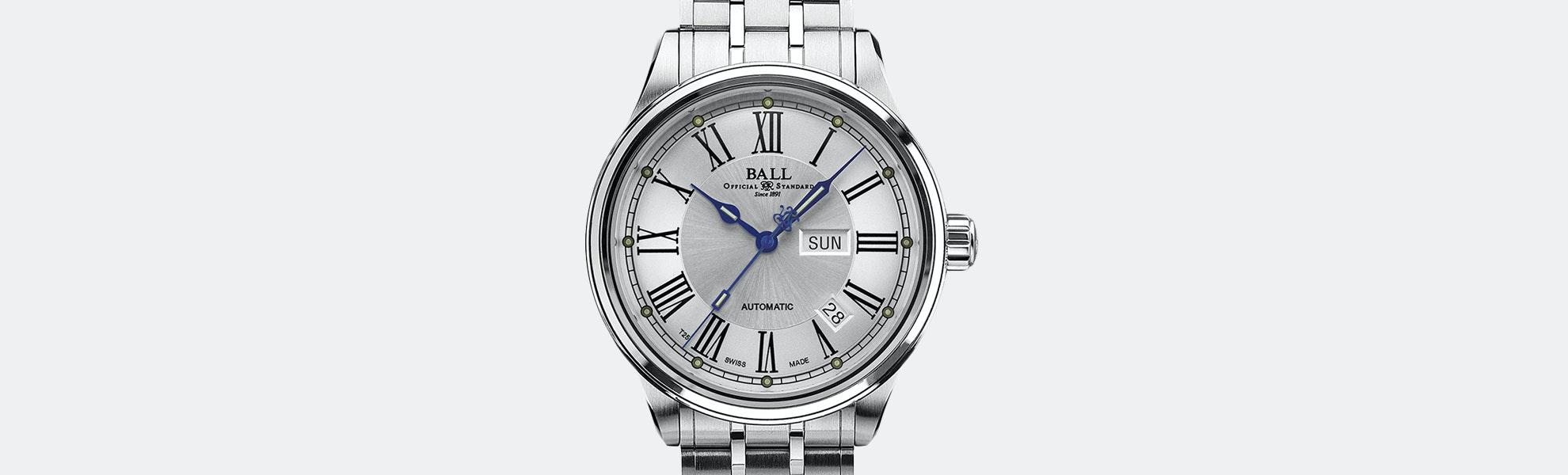 Ball Trainmaster Roman Automatic Watch