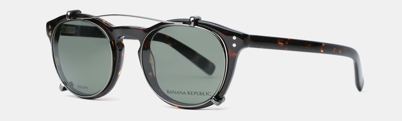 0ac41a96a0 Banana Republic Jaxon Eyeglasses w  Clip-On Shades