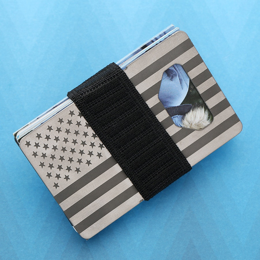 Barclay & Co. Spine Wallet: USA Flag