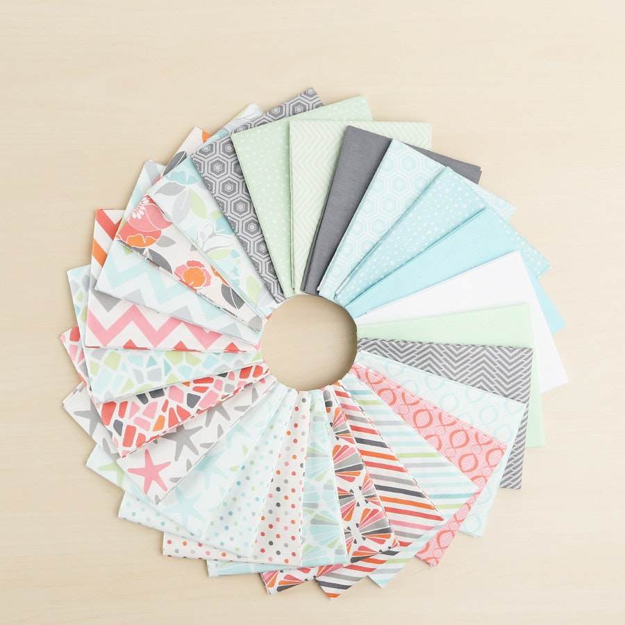 Beach House by Jackie Fat Quarter Bundle