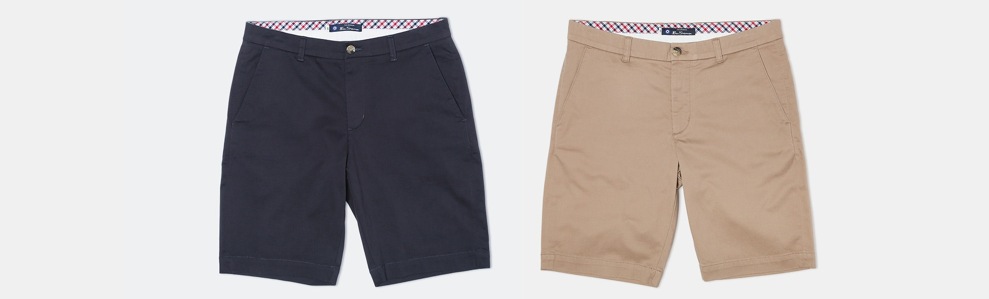 Ben Sherman Stretch Sueded Sateen Shorts