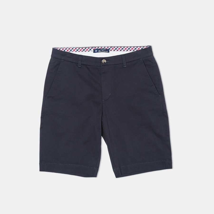 Ben Sherman Stretch Sueded Sateen Shorts