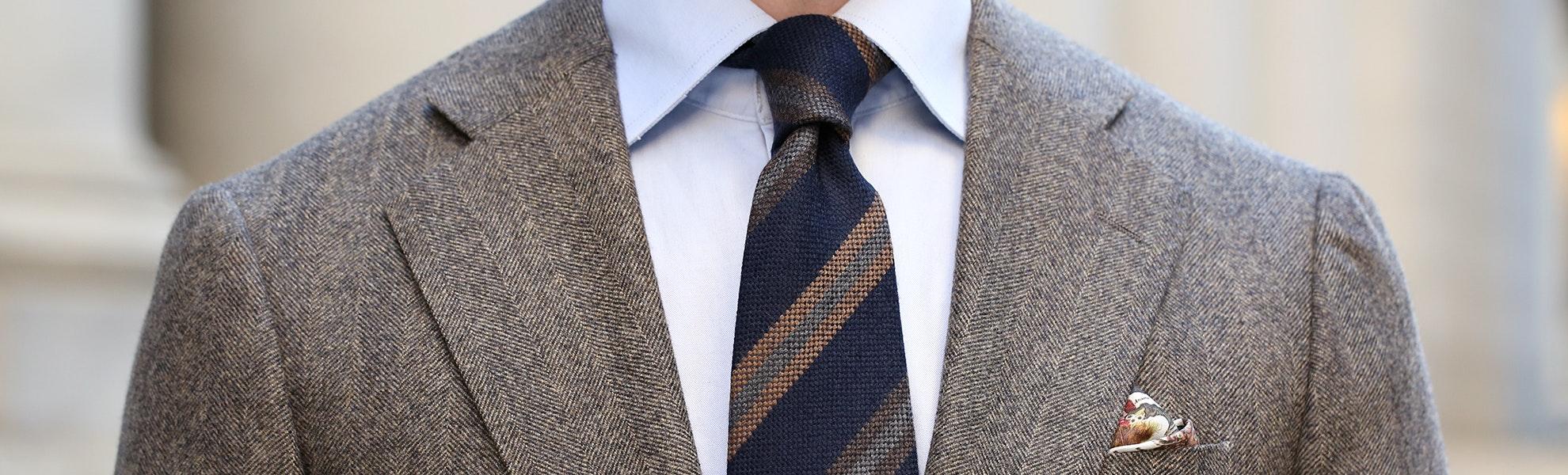 Berg & Berg Handrolled Wool Tie