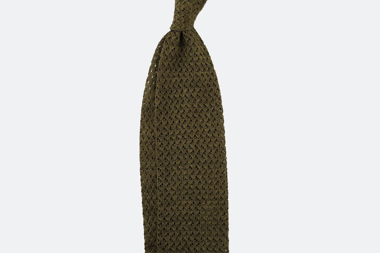 Two-tone silk/linen – leaf
