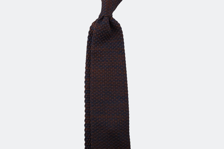 Speckled silk – navy/brown