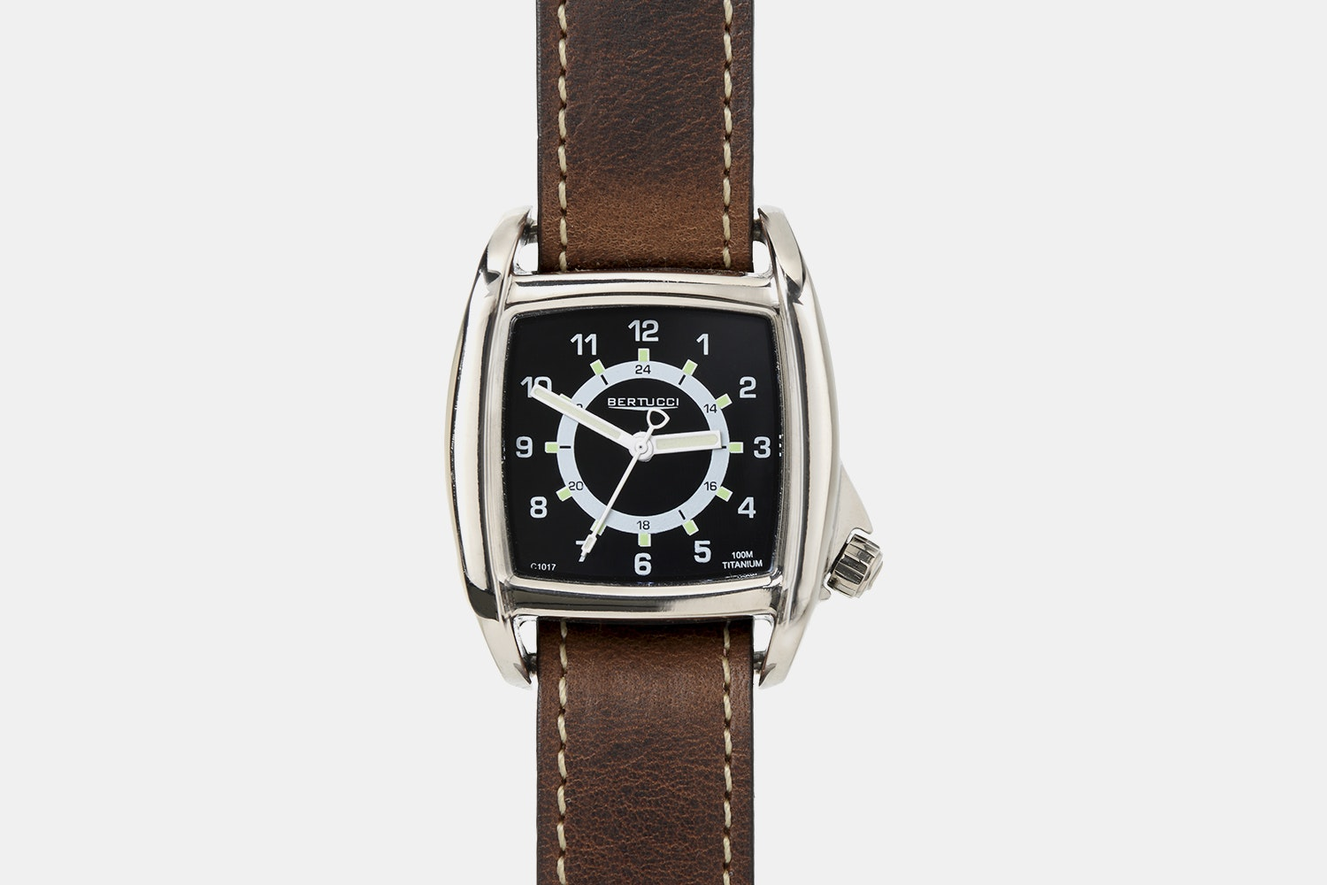 Onyx Black Dial, Nut Brown Leather Band (+ $14)