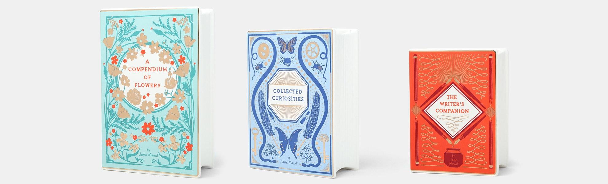 Bibliophile Ceramic Vase Set
