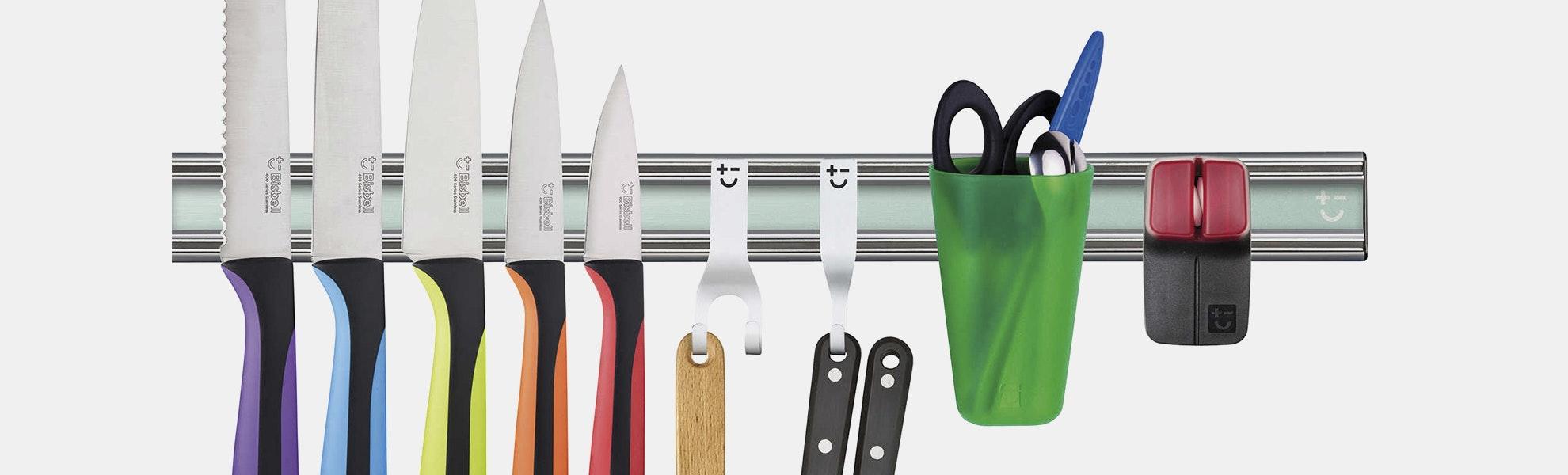 Bisbell 10-Piece Pro Magnetic Knife Rack Set