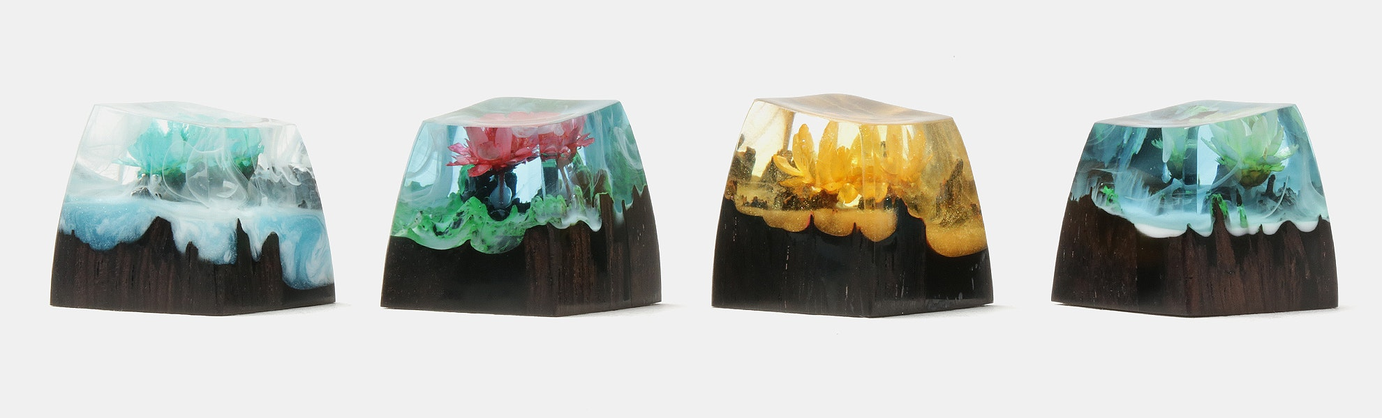 BKD 4 Seasons Resin & Wood Artisan Keycap