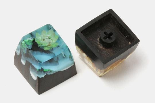 BKD 4 Seasons Resin & Wood Artisan Keycap