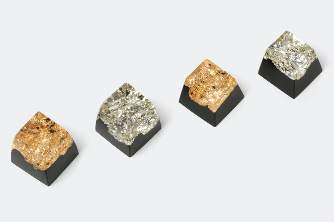 BKD Metallic Wood Resin Artisan Keycap