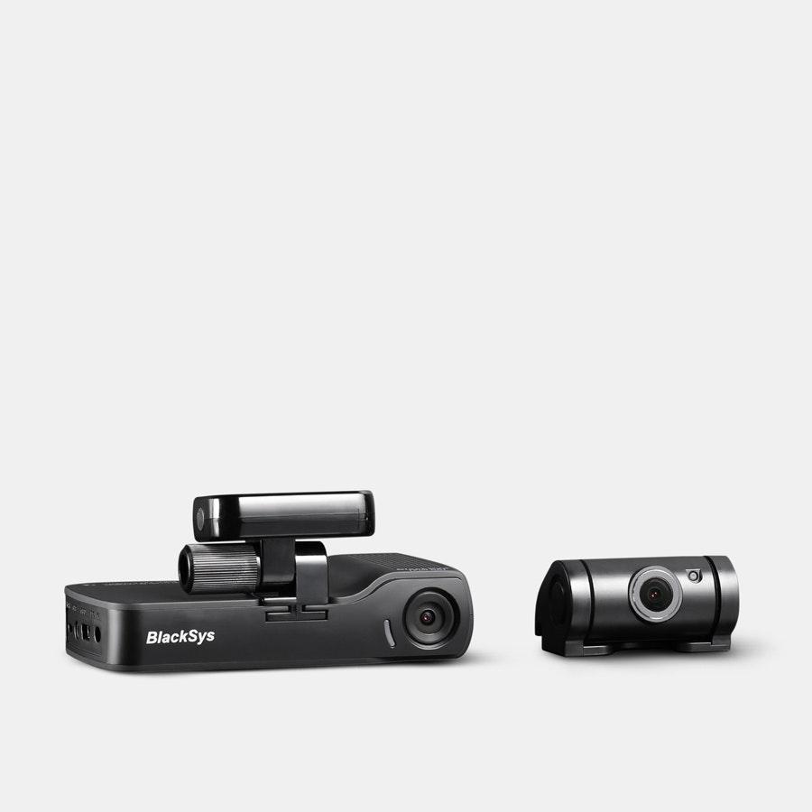 BlackSys CH100B 2CH Dash Camera w/ 32GB SD Card