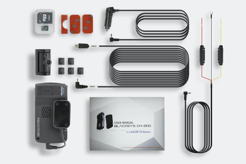 BlackSys CH-200 2-Channel Dash Cam w/ 32GB Card