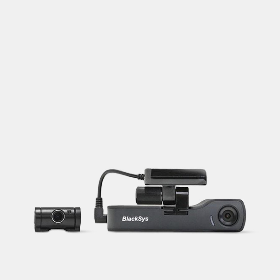 BlackSys CH-200 2-Channel Dash Cam w/ 32GB Card