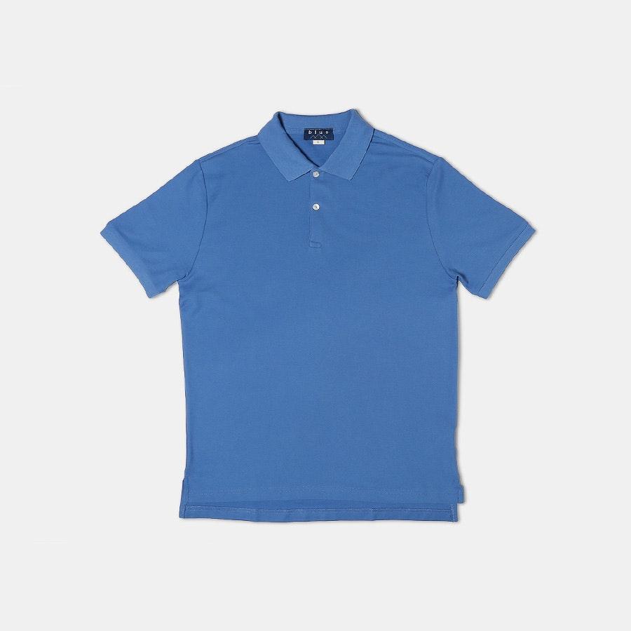 Blue 1899 Pima Cotton Pique Polos