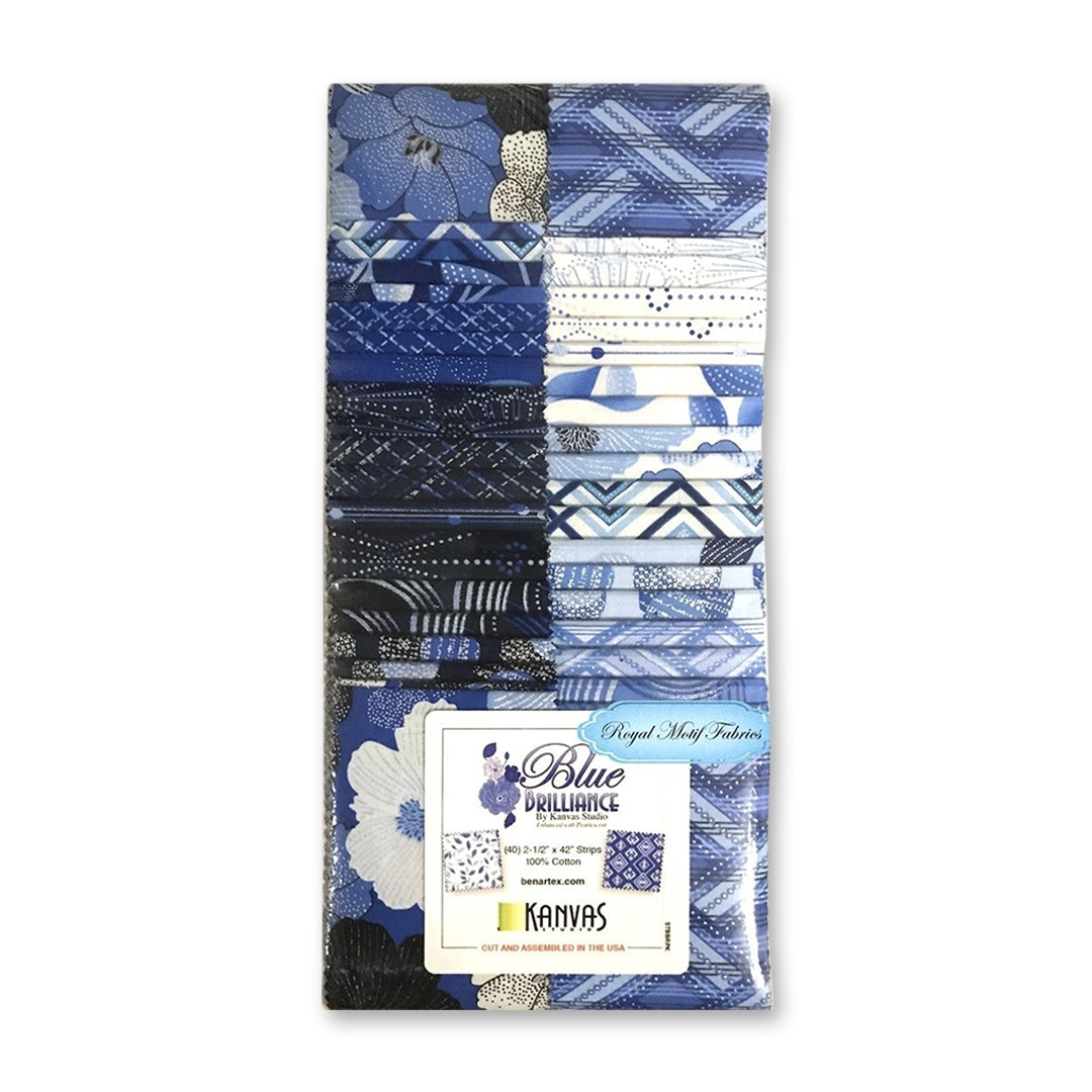 Benartex Blue Brilliance Fabric Strips