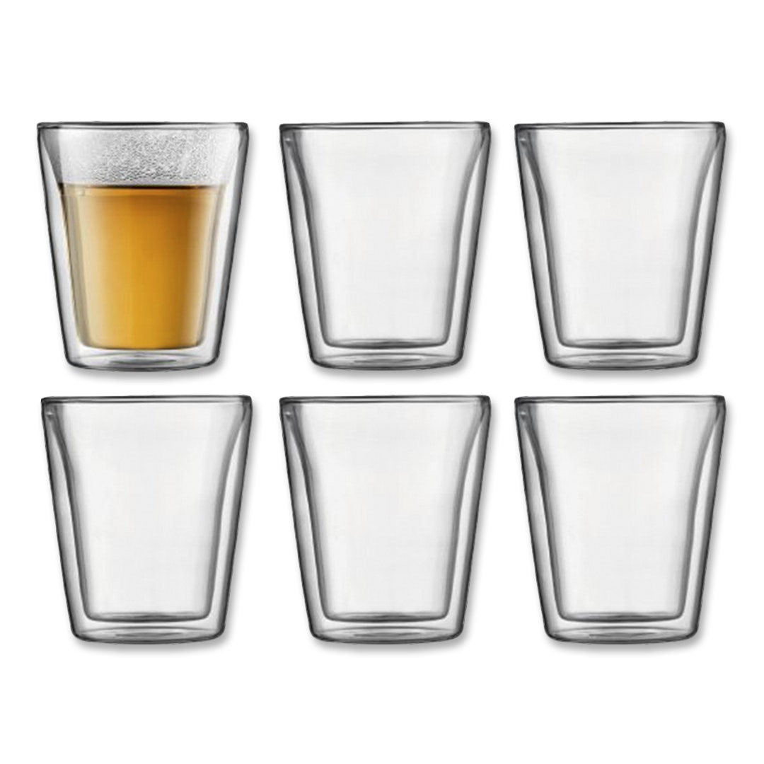 Bodum Canteen Double-Wall Glasses (Set of 6)