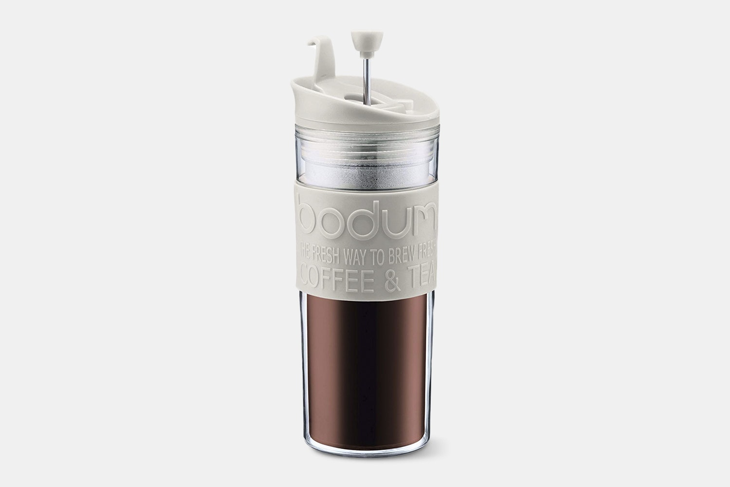 Double-Wall Travel French Press – White (-$5)
