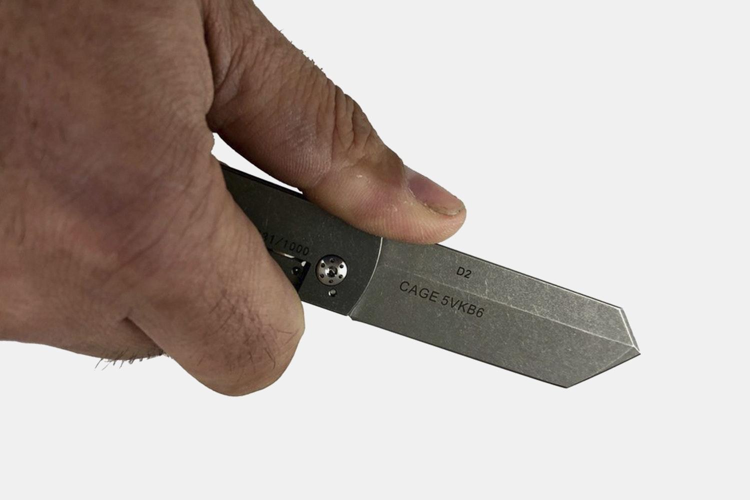 Boker & CountyComm D2 Chap Knife