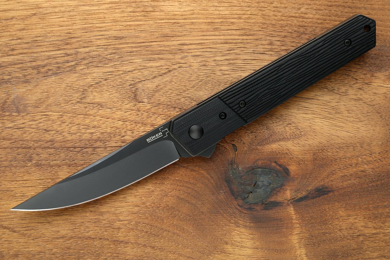 Textured G-10 Handle / Black VG-10 Blade