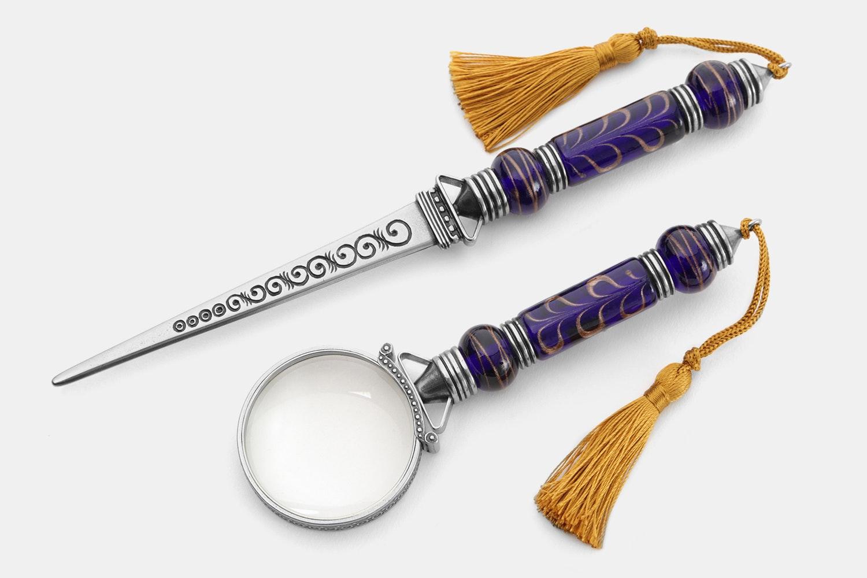 Bortoletti Letter Opener & Magnifying Glass Set