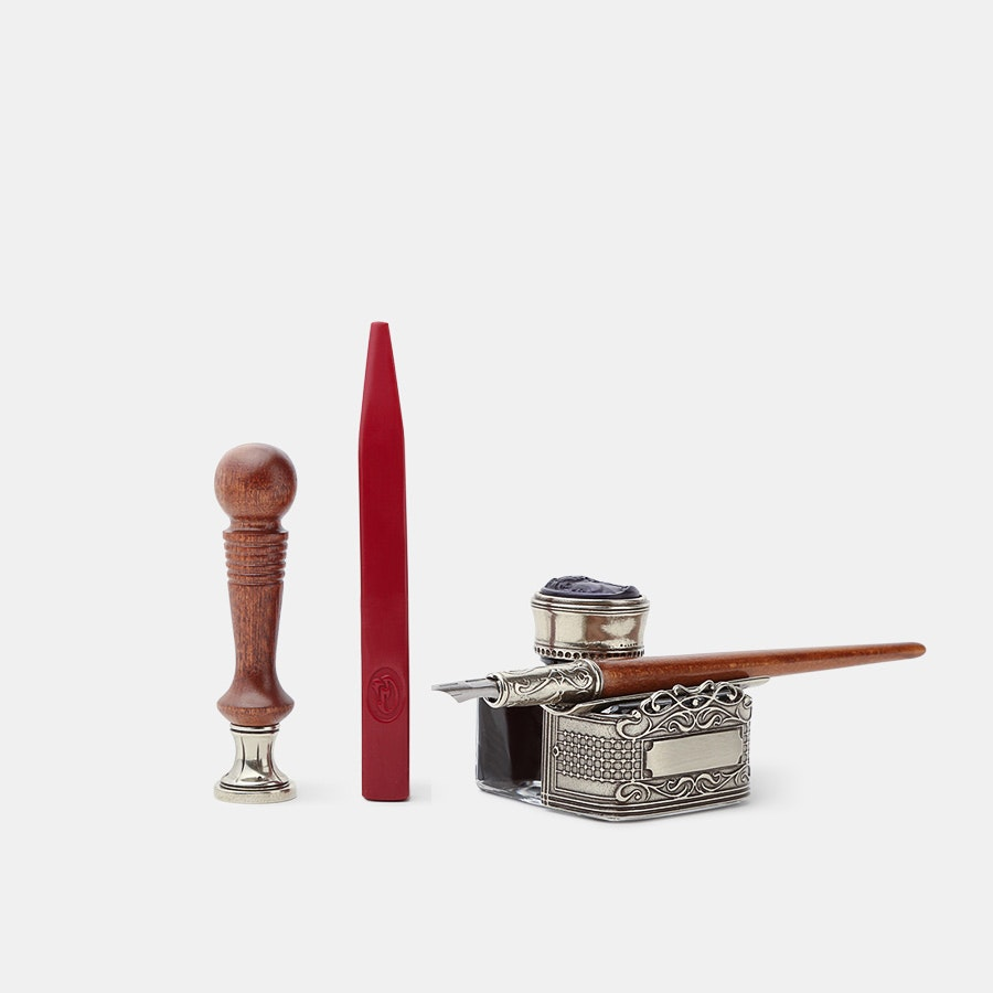 Bortoletti Wooden Pen & Seal Set