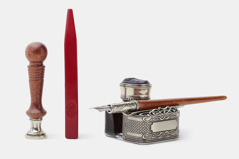 Bortoletti Wooden Pen & Seal Set
