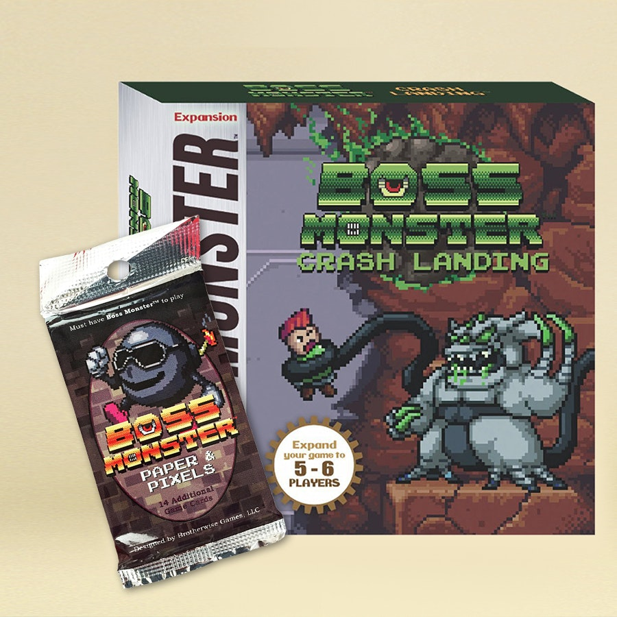 Boss Monster Crash Landing + Papers & Pixels Bundle