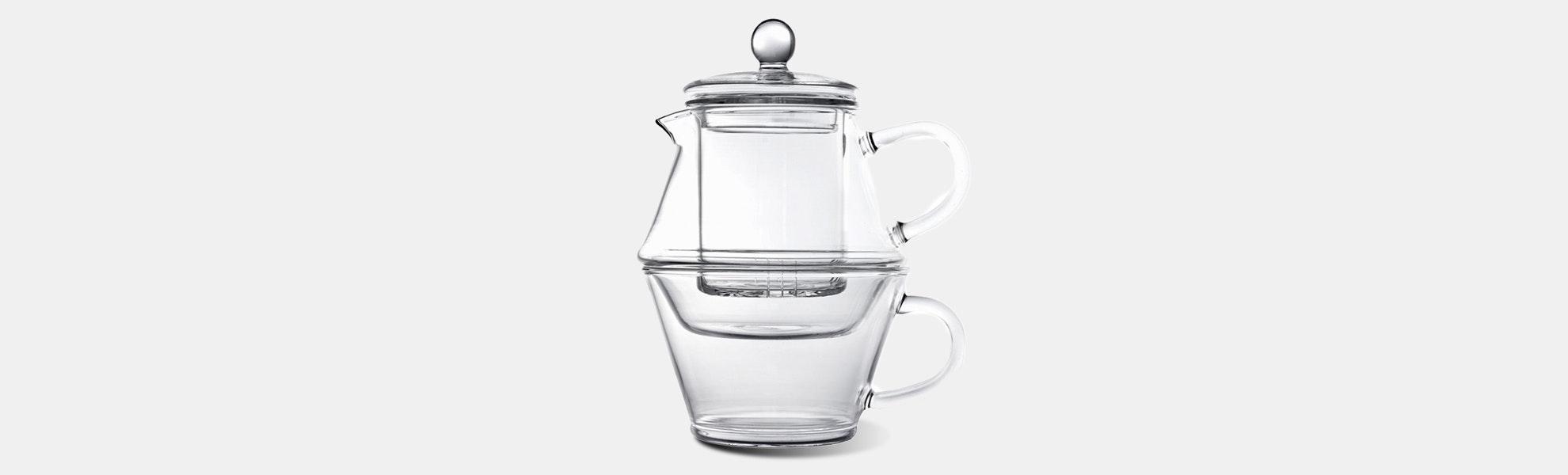 Bredemeijer 14-Ounce Borosilicate Teapot for One