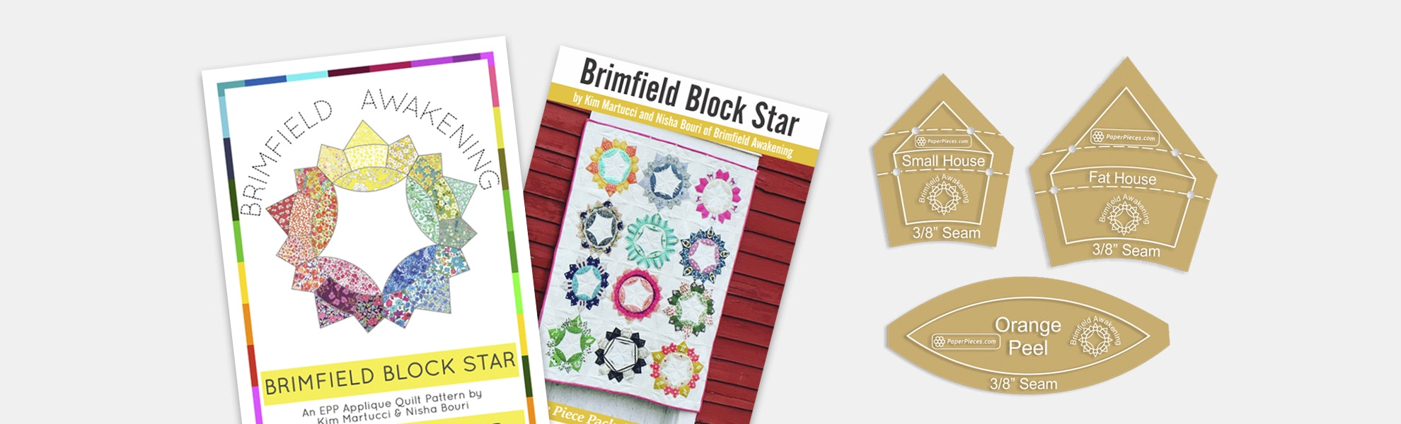 Brimfield Block Star Paper Piece Bundle
