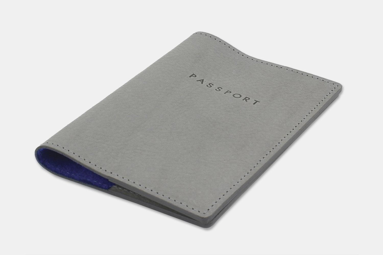 Passport Holder - Gray/Blue (+ $10)
