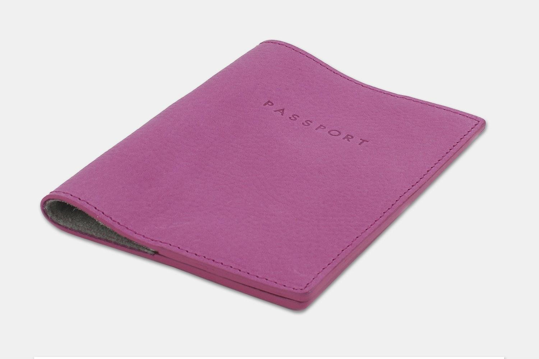 Passport Holder - Pink/Gray (+ $10)