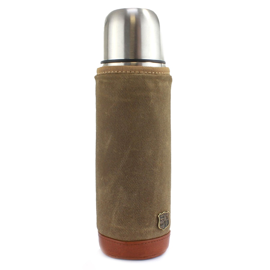 Flask and Sleeve - Olive (- $5)