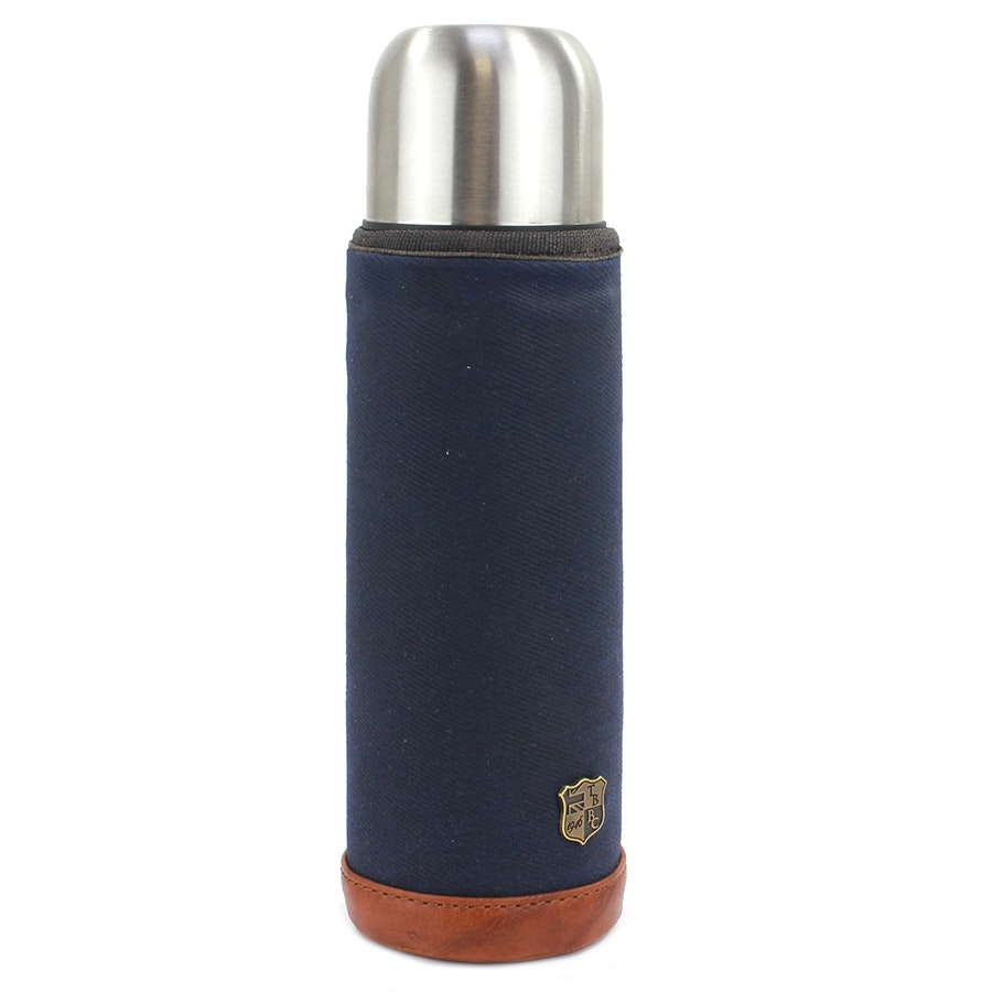 Flask and Sleeve - Navy (- $5)