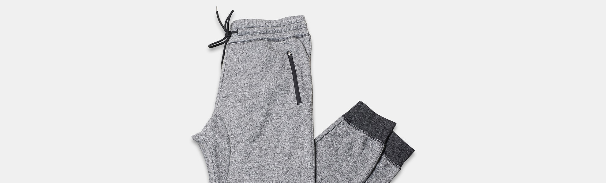 Brooklyn Cloth Marl Zip-Pocket Joggers