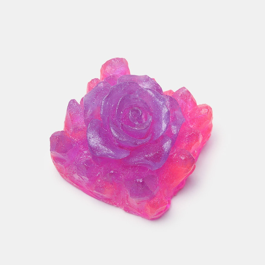 Bubble Keys Crystal Echeveria Resin Artisan Keycap