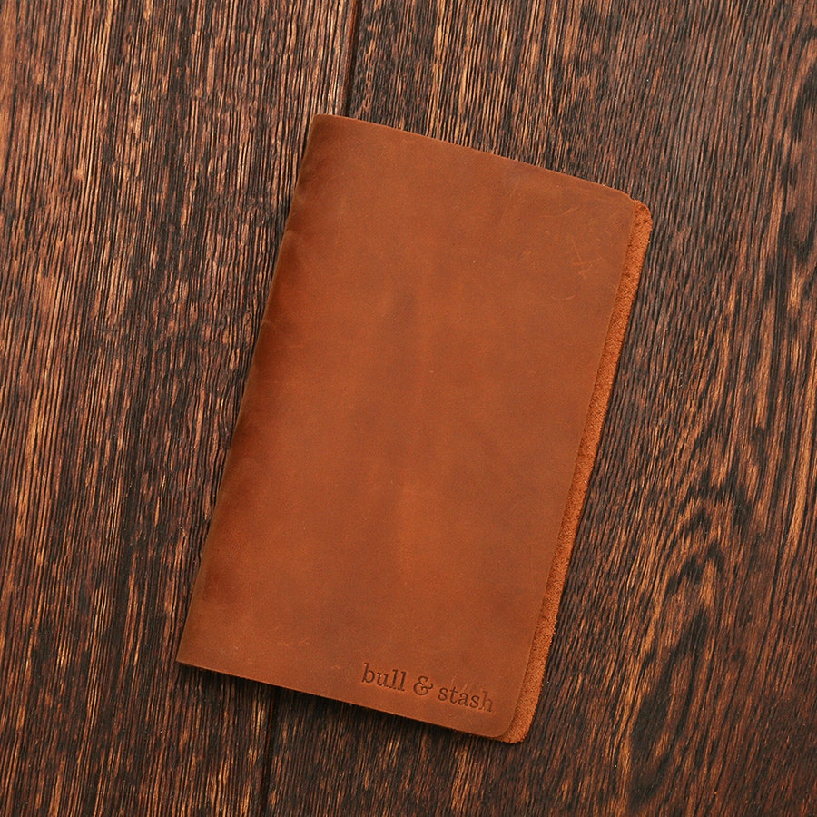 "Bull & Stash ""Travel Stash"" Leather Notebook"