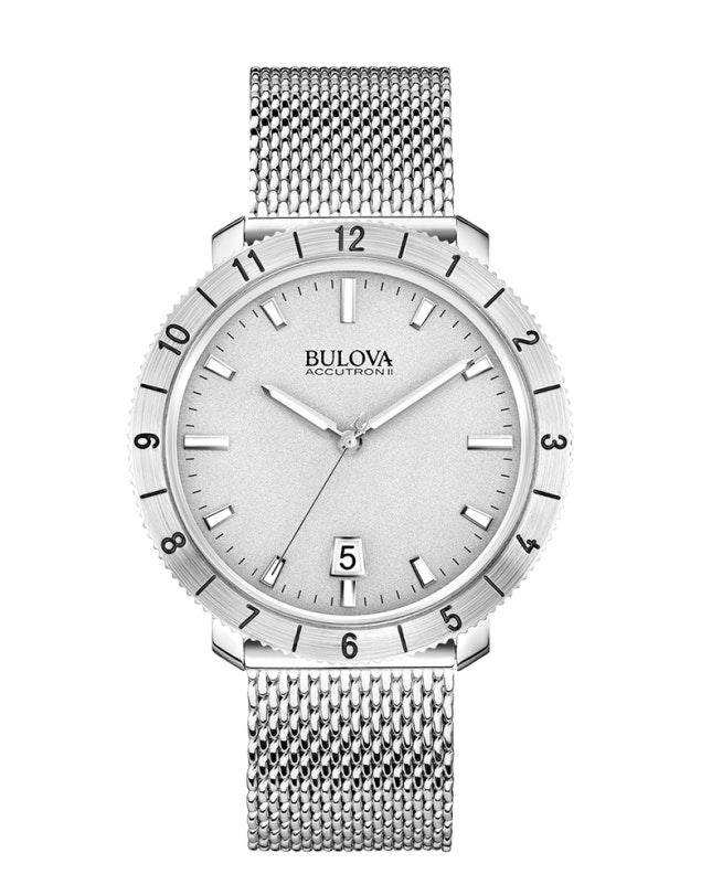Silver dial, SS mesh 96B206 (+$22)