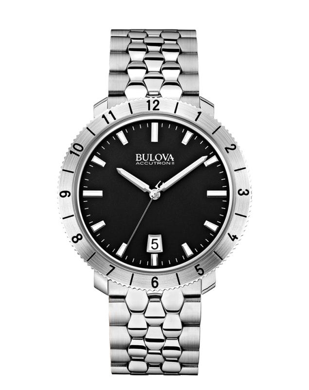 Black dial, SS bracelet 96B207 (+$54)